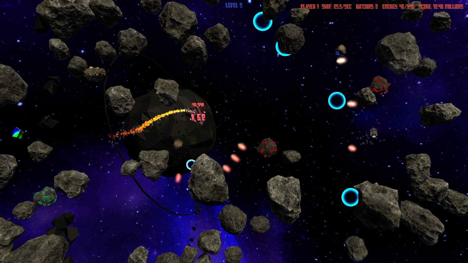 Play Asteroids 44 for free