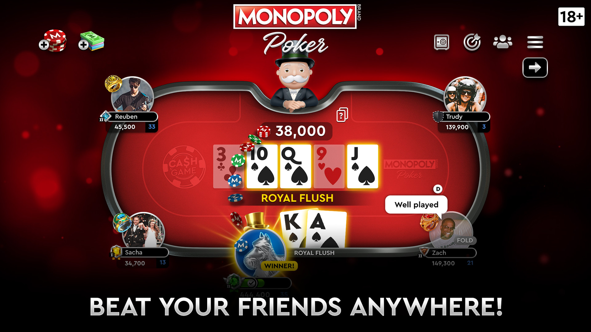 Claim MONOPOLY Poker for free