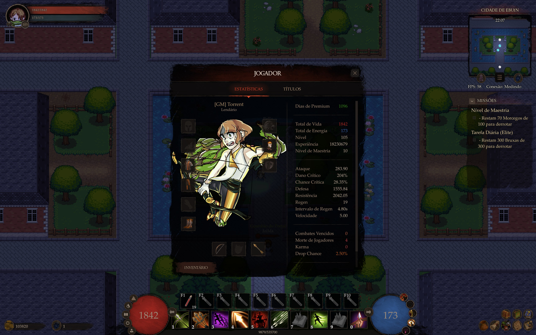 Claim Eternal Quest - 2D MMORPG for free